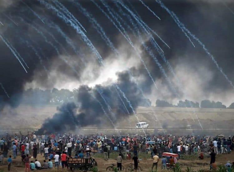 Gazze'deki gösterilerde 52 Filistinli şehit oldu 1