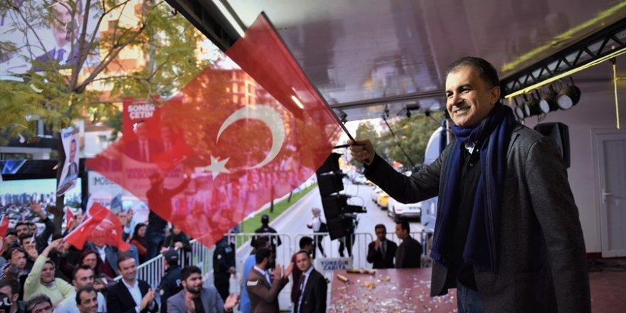 """Ömer Çelik: """"31 Mart günü en güçlü cevabı vereceğiz"""""""