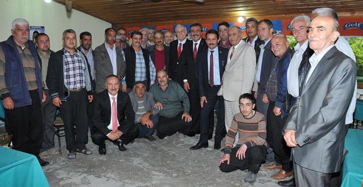 Başkan Çetin İlçe Ziyaretlerinde...