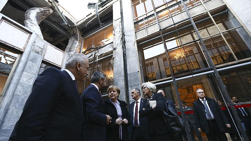 Almanya Başbakanı Merkel TBMM'yi ziyaret etti