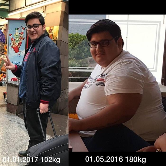 8 ayda 78 kilo verdi