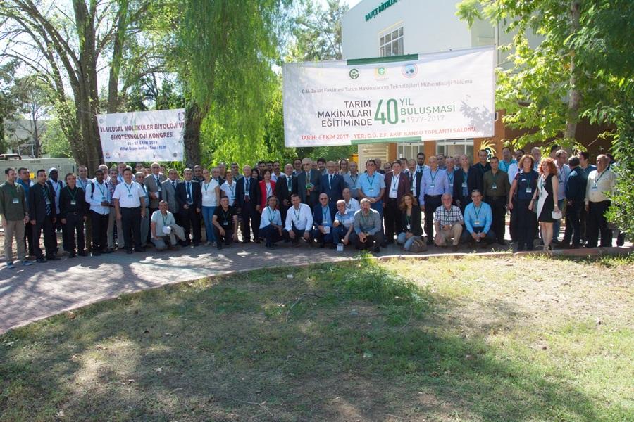 ÇÜ Tarım Makineleri Eğitiminde 40. Yıl Buluşması Düzenledi.