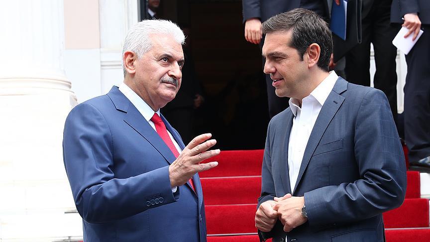 Başbakan Yıldırım, Çipras ile telefonla görüştü