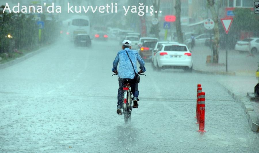 Adana'da şiddetli yağış