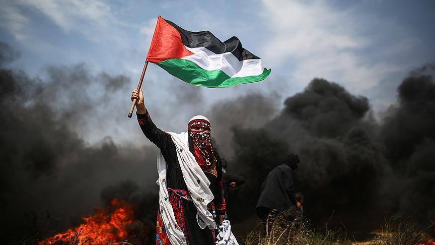 İsrail savaş uçağı eylemcileri hedef aldı