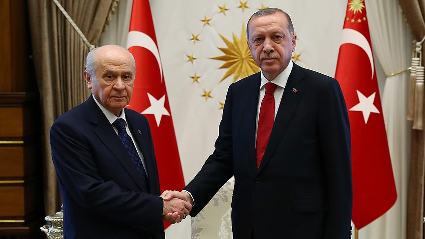 Erdoğan ile Bahçeli görüştü