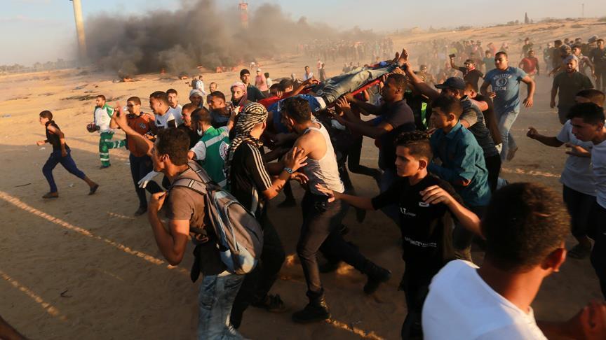 İsrail askerleri Gazze sınırında biri çocuk 2 Filistinliyi şehit etti