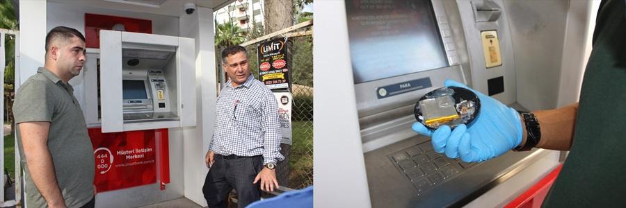 Adana'da ATM'de kart kopyalama düzeneği bulundu