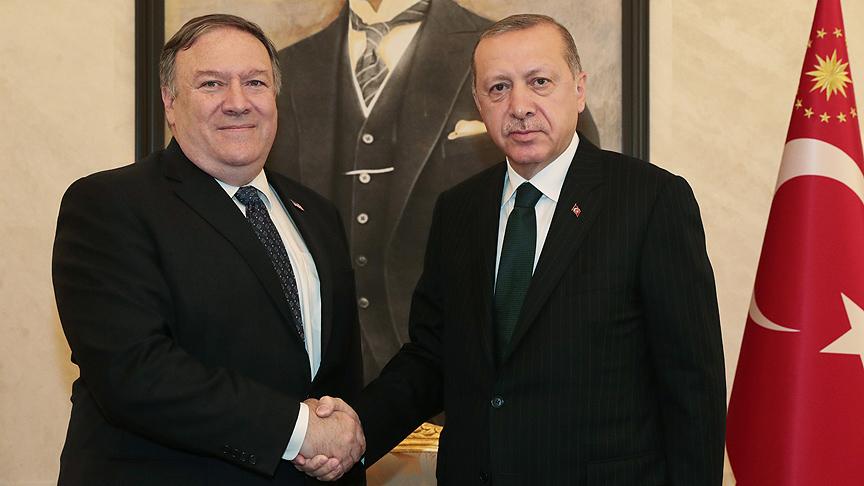 Erdoğan ile Pompeo görüştü