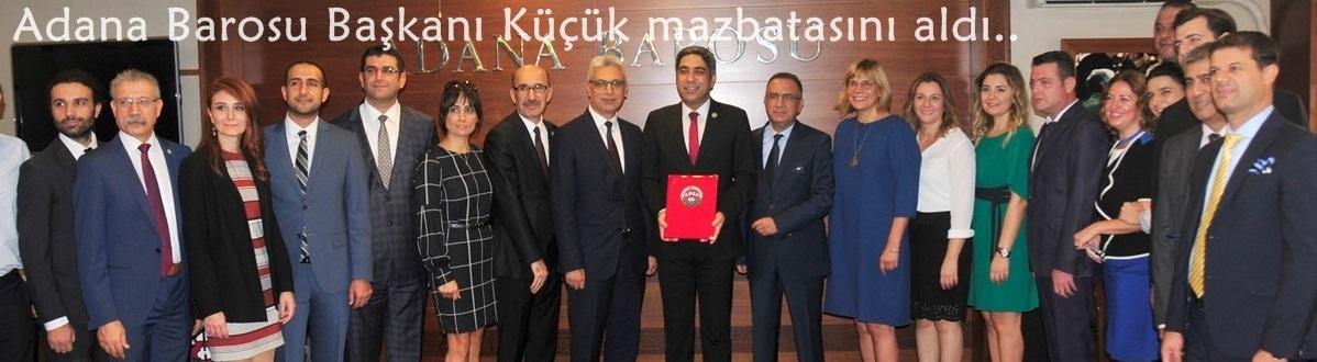 Adana Barosu Başkanı Küçük mazbatasını aldı