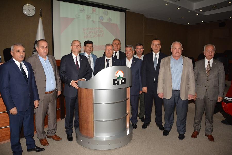 Adana İl İlçe Oda Borsalardan Enflasyonla Mücadele edeceğiz açıklaması geldi.