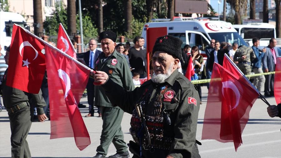 Çukurova'da 29 Ekim Cumhuriyet Bayramı dolayısıyla törenler düzenlendi..