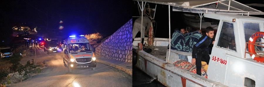 Mersin'de düzensiz göçmenleri taşıyan tekne battı