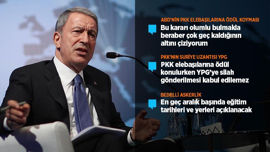 Milli Savunma Bakanı Akar: 'YPG'nin PKK'dan hiçbir farkı yok'