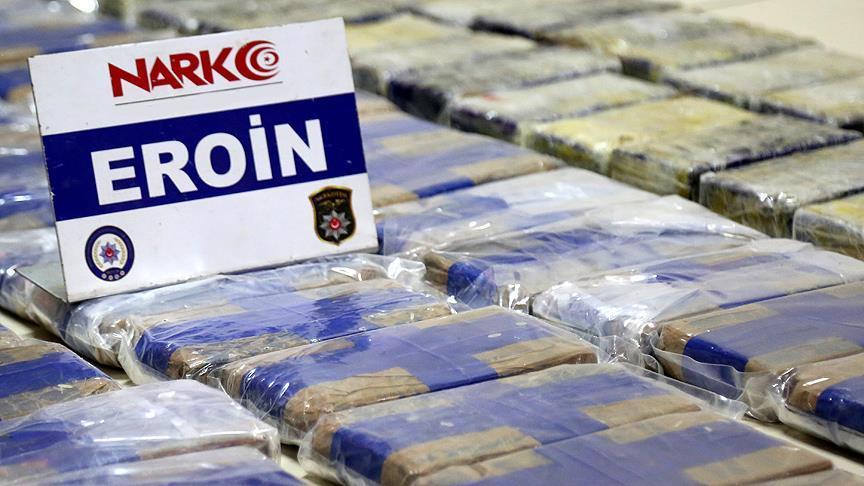 Erzincan'da 1 ton 271 kilogram eroin ele geçirildi