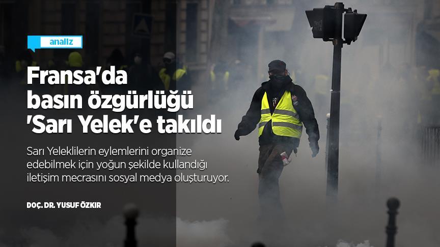 Fransa'da basın özgürlüğü 'Sarı Yelek'e takıldı