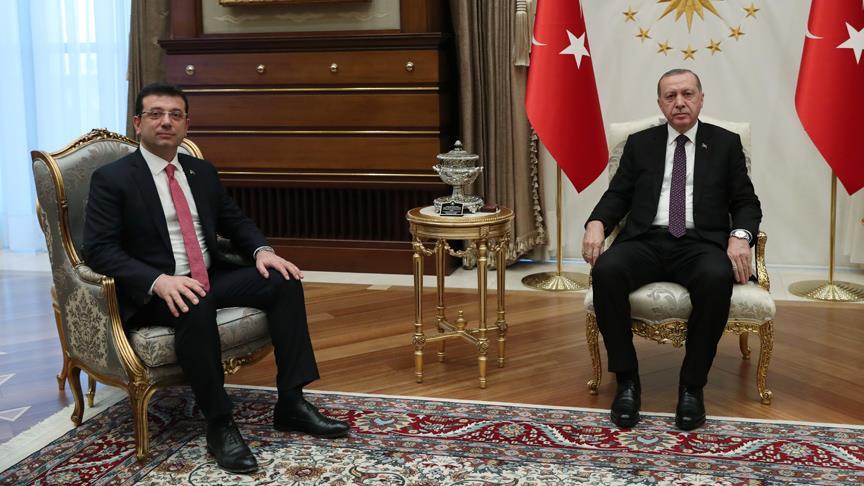 Cumhurbaşkanı Erdoğan, İmamoğlu'nu kabul etti
