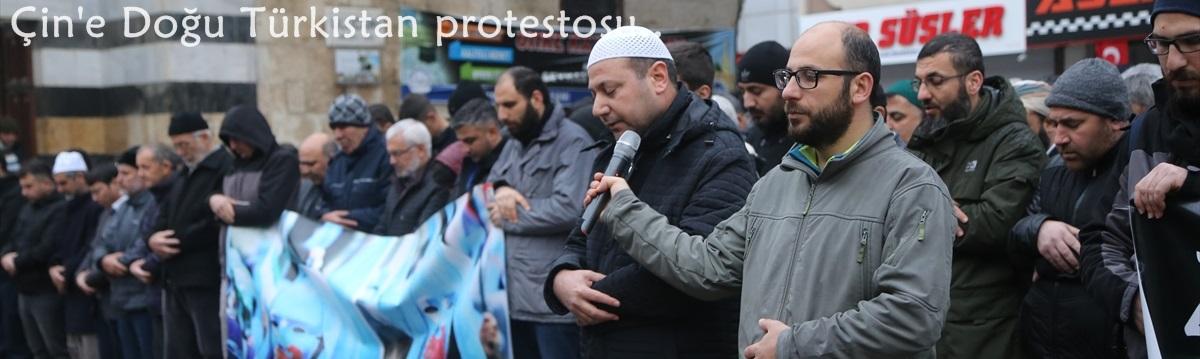 Adana,Osmaniye veKahramanmaraş'taÇin'e Doğu Türkistan protestosu