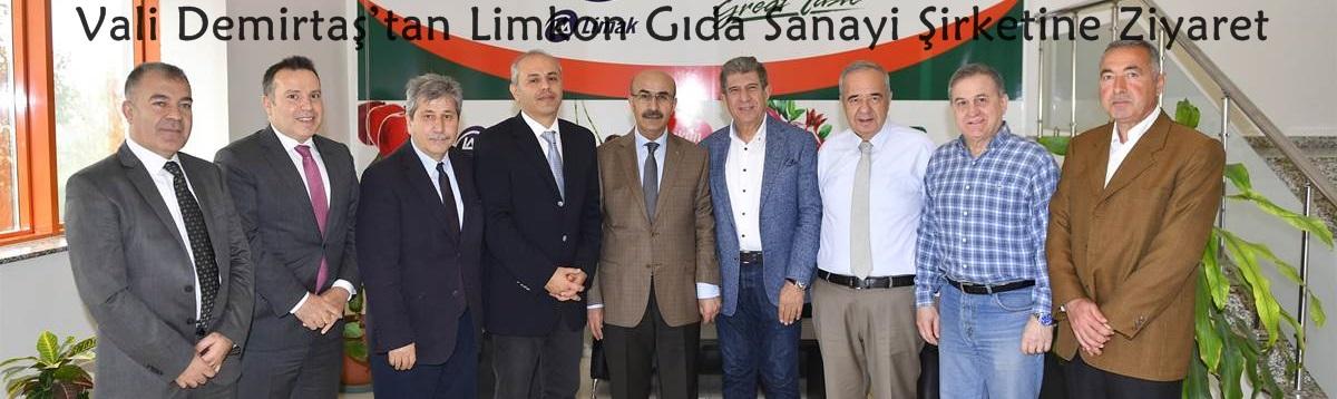 Vali Demirtaş'tan Limkon Gıda Sanayi Ve Ticaret Anonim Şirketine Ziyaret