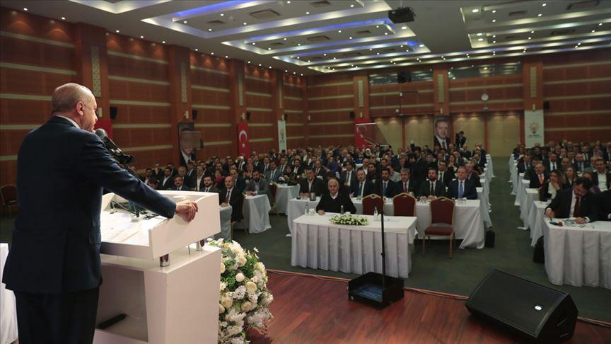 Erdoğan, AK Parti İstanbul İl Başkanlığı'nda