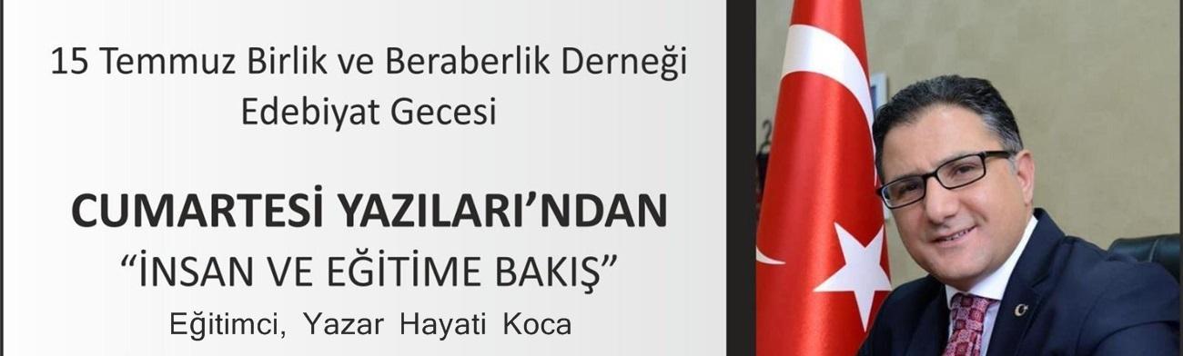 Hayati Koca, Adana'da Yarın Okuyucularıyla Buluşuyor..