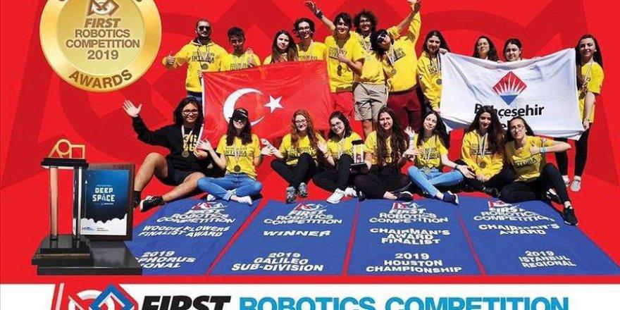 Türk robotik takımı ABD'de şampiyonluğa yürüdü