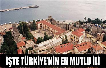 Türkiye'nin en mutlu ili burası