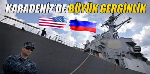 Karadeniz'de Rus jeti ile Amerikan savaş gemisi arasında gerginlik
