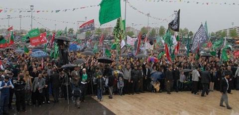 Diyarbakır'da yüzbinler 'Kutlu Doğum'u kutladı