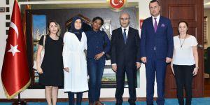 Etiyopya CumhurbaşkanıMulatu'dan Vali Demirtaş'a Ziyaret