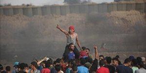 Fanatik Yahudilerin Mescid-i Aksa baskınları Gazze'de protesto edildi