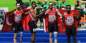 Erkekler 4x100 metre bayrak yarışında gümüş madalya