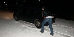 Hatay'da kar yağışı