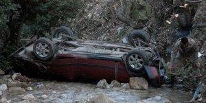 Hatay'da otomobil dere yatağına devrildi: 4 yaralı