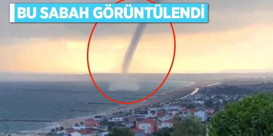 İstanbul'daki hortum görüntülendi