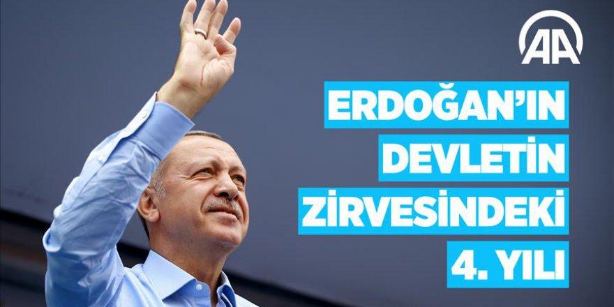 Cumhurbaşkanı Erdoğan'ın devletin zirvesindeki 4. yılı