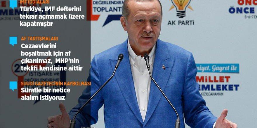 Erdoğan: Türkiye, IMF defterini tekrar açmamak üzere kapatmıştır