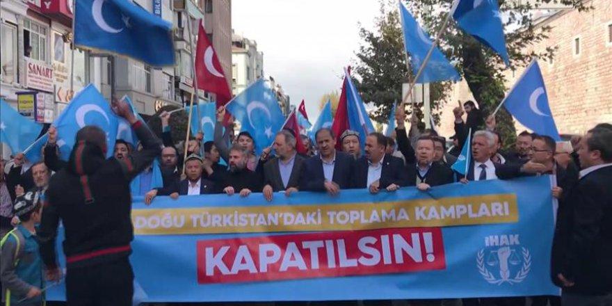 Çeşitli sivil toplum kuruluşları Çin'in Doğu Türkistan politikalarına tepki gösterdi