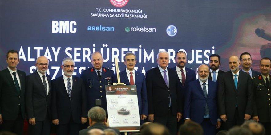 Altay tankının seri üretim sözleşmesi imzalandı