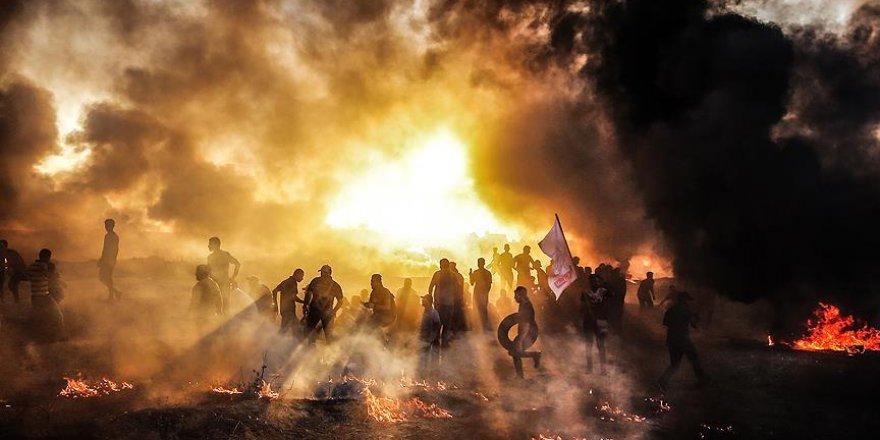"""Gazze sınırındaki """"Büyük Dönüş Yürüyüşü"""" gösterileri 35. cumasında"""