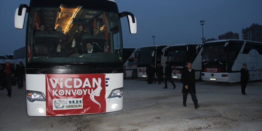 """""""Vicdan Konvoyu"""" Adana'dan yola çıktı"""