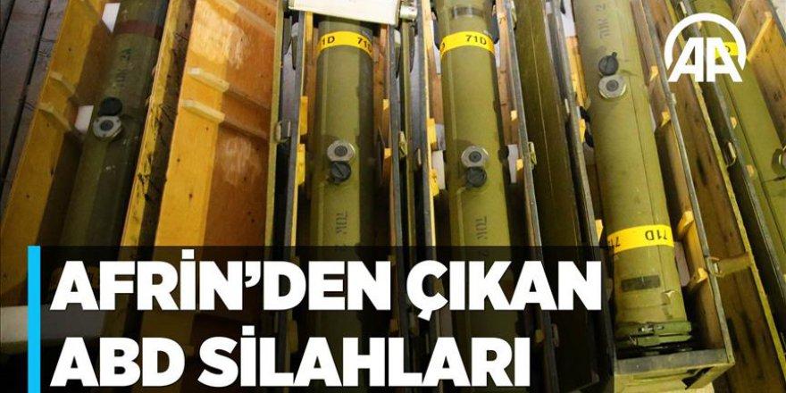 Terör örgütü YPG/PKK'ya verilen silahlar Afrin'de ortaya çıktı